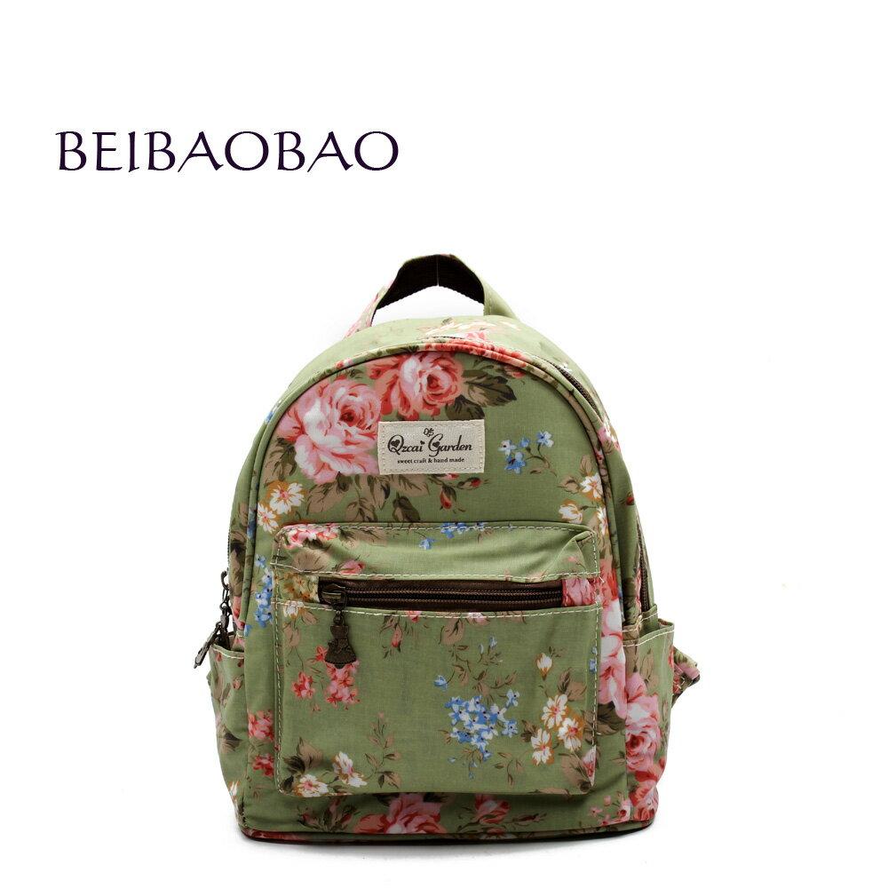 【BEIBAOBAO】玫瑰綠花漾親子包( 大+中+小 共三個) 2