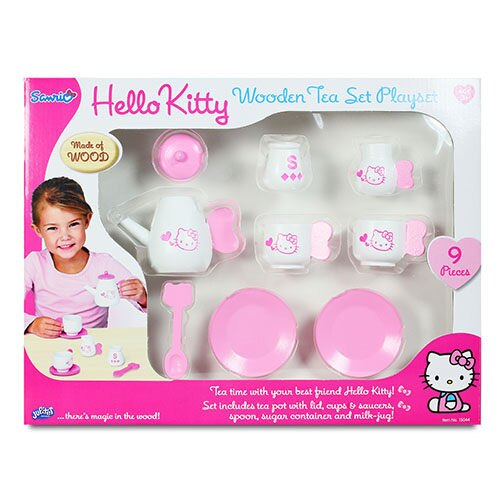 【 HELLO KITTY 】木製茶具組