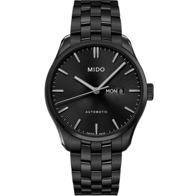 Mido 美度錶 M0246303305100 Belluna Sunray 放射紋時髦雅致腕錶/黑 42.5mm