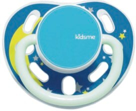 ★衛立兒生活館★kidsme 夜光安撫奶嘴-藍6個月以上使用
