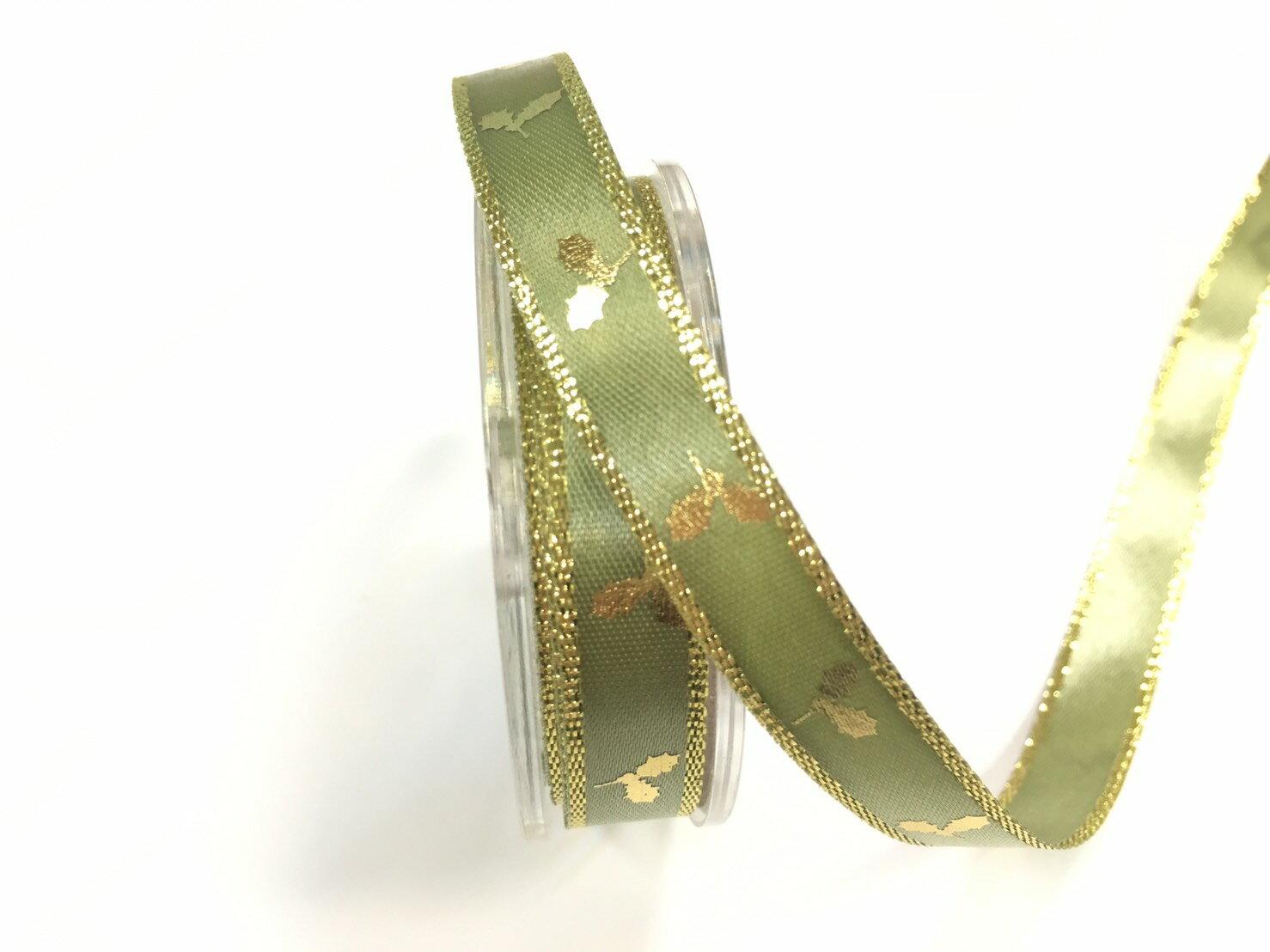 雙緞面聖誕金葉 10mm 3碼裝 (10色) 2