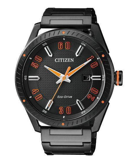 Citizen 星辰 Eco-Drive 光動能 宇宙驛站時尚腕錶 活躍橘 BM6998-88E 35mm