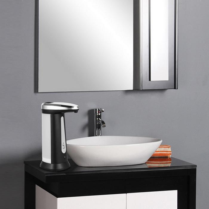 Automatic Touchless Soap Dispenser Liquid Sanitiser Dispenser 400ml Chrome Finish 4