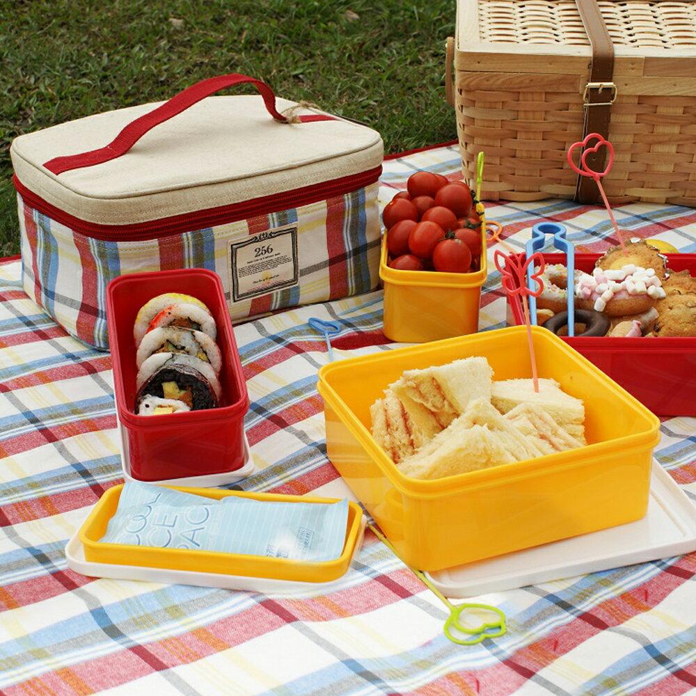 【DESTINO STYLE】256經典格紋四合一野餐保冷(溫)餐盒組 0