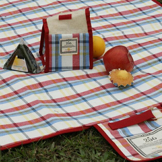 【DESTINO STYLE】256經典格紋簡易野餐保冷(溫)袋 2