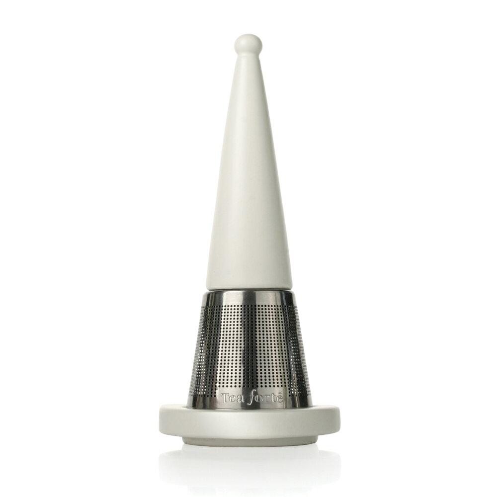 Tea Forte 露思錐型茶葉濾器(白瓷) 0