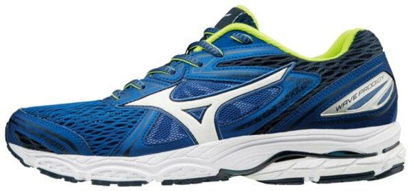 MIZUNOWAVEPRODIGY男鞋慢跑休閒輕量耐磨支撐舒適透氣藍白綠【運動世界】J1GC171002