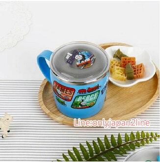 【真愛日本】17032400009 柄不鏽鋼杯附蓋-TOMS NO1 湯瑪士 小火車 卡通杯子 水杯 茶杯 附背蓋