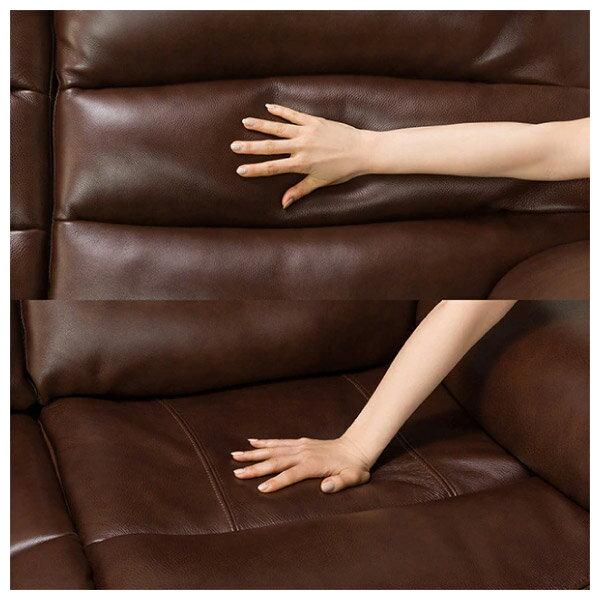 ◎(OUTLET)全皮3人用頂級電動可躺式沙發 BELIEVER ROYAL DBR 福利品 NITORI宜得利家居 7