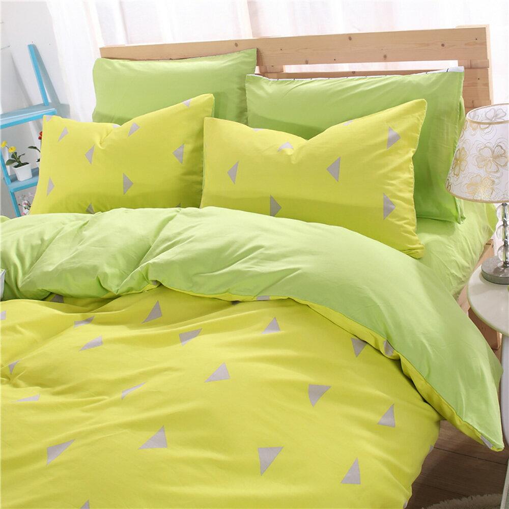 挪威森林 100%精梳純棉四件式雙人加大床包被套組 移動迷宮