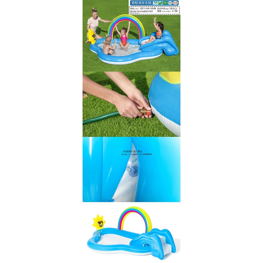 免運 充氣游泳池 多款式海洋球池 家用戲水池樂園 戶外氣墊游泳池 嬰幼兒童游泳池 親子遊戲池 加厚釣魚池 沙池h5035