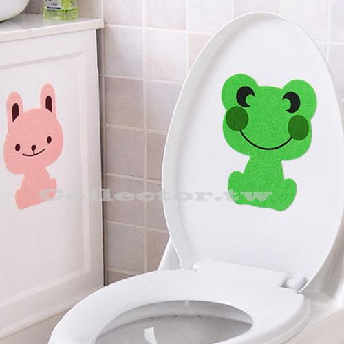 【E16061301】創意卡通造型馬桶除臭貼 浴室除臭貼 加厚毛氈除臭貼 消除臭味