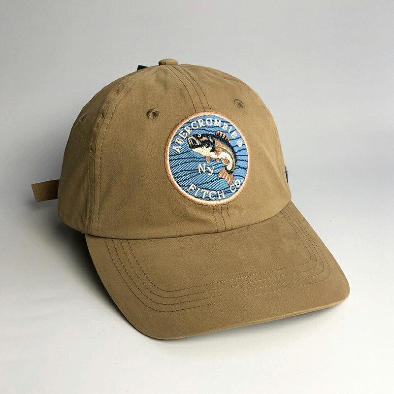 美國百分百【Abercrombie & Fitch】帽子 配件 老帽 AF 棒球帽 經典 麋鹿 Logo 卡其 H414
