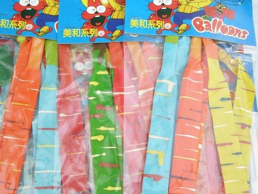 火箭氣球 飛箭氣球 長氣球 火箭汽球(長3入/吊卡式)/一吊24包入(一包3個入){定10}