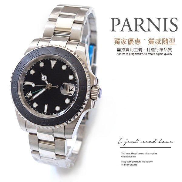 【完全計時】手錶館│PARNIS 瑞典軍錶風 極簡專業潛水錶100M 限量款PA3104-1 男錶 水鬼 自動上鍊