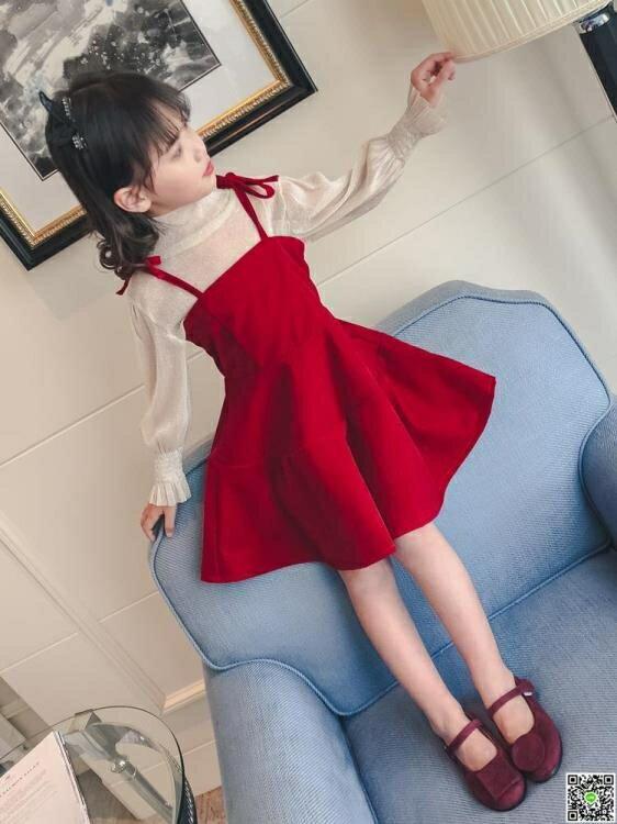 女童春裝套裝韓版中大童兒童洋氣時髦連衣裙兩件套裙子潮  領券下定更優惠