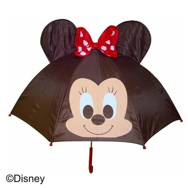 【真愛日本】15090400007 直傘47cm-造型蝴蝶結紅 迪士尼 米老鼠米奇 米妮 傘具 直傘 居家用品