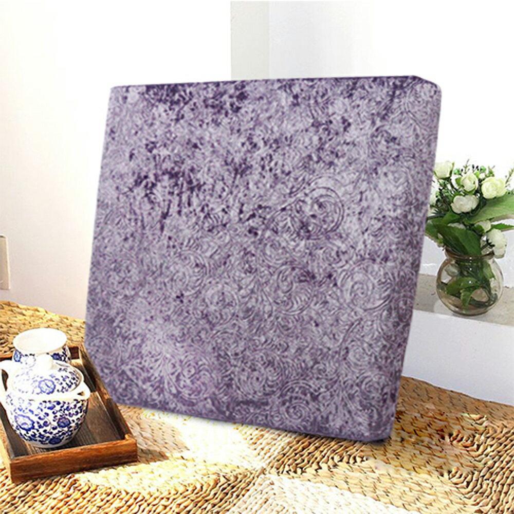 【巴芙洛】藤蔓厚坐墊55X55X5cm-紫色款