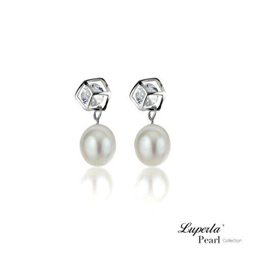 大東山珠寶 經典時尚 天然淡水珍珠純銀耳環 0