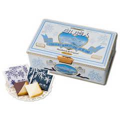 白戀人54枚(白36枚/黑18枚)鐵盒
