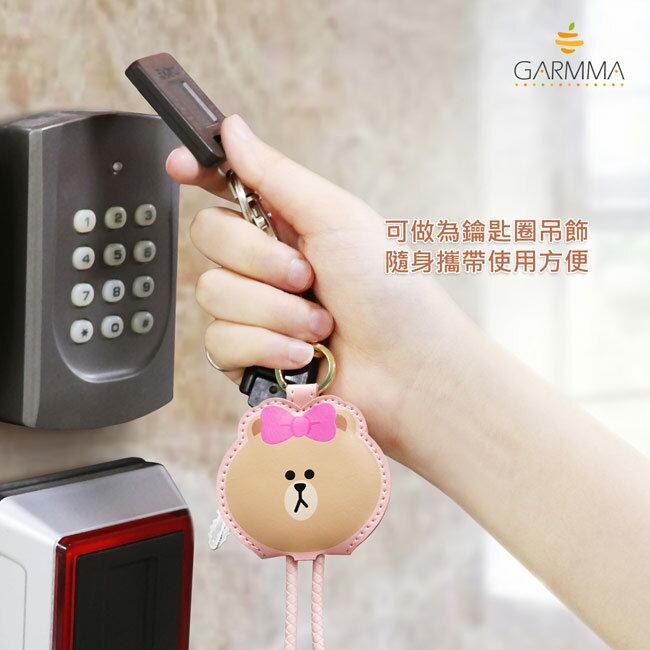 GARMMA LINE Friends Apple Lightning皮革吊飾傳輸線(熊大 / 兔兔 / Kitty / 熊美) 2