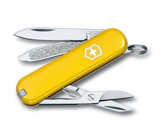 Victorinox 瑞士維氏 Classic系列 0.6223.8(黃) 多功能小型萬用刀 瑞士刀 7種功能 /支