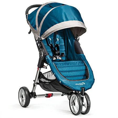 baby jogger city mini 單手秒收【Fold 經典版】-輕慢跑推車-藍色