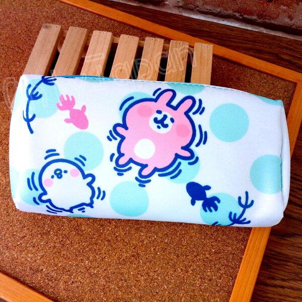 【真愛日本】18050700018方型筆袋化妝包-卡娜赫拉金魚卡娜赫拉的小動物兔兔P助筆袋化妝包