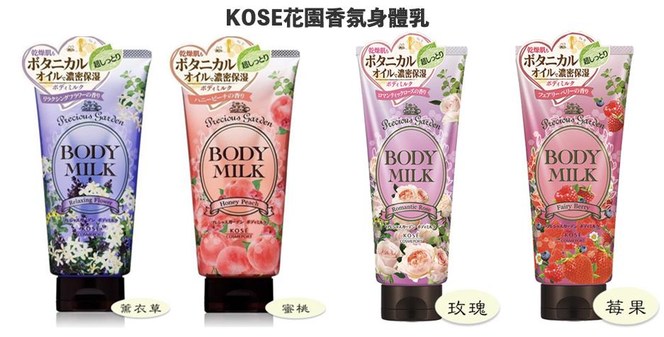 【KOSE】 花園香氛身體乳200g(浪漫玫瑰/夢幻莓果/蜂蜜蜜桃/愉悅花香)