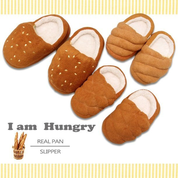 ~ 韓流 ~真實感麵包 兒童室內拖 兒童保暖毛絨拖鞋 2種麵包 室內拖鞋  辦公室小物