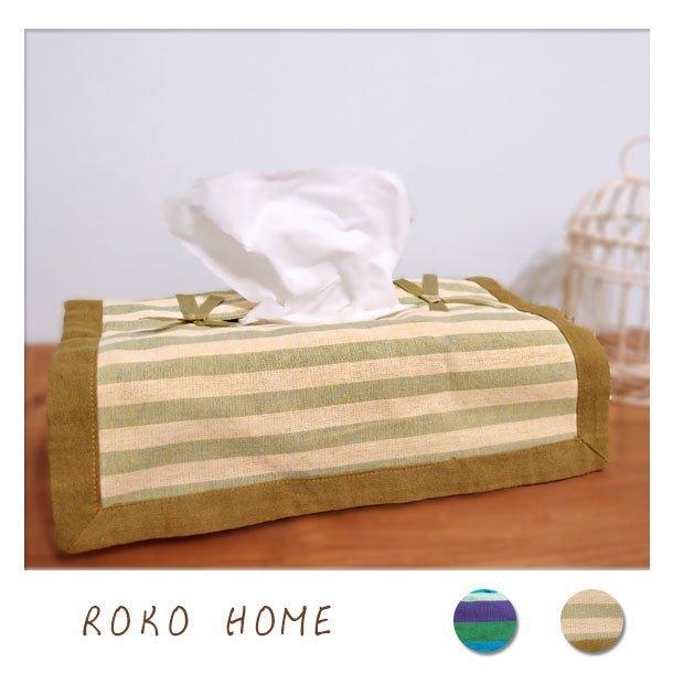 鄉村雜貨 新品!! 面紙套 面紙盒 棉麻布料 2色  日系無印風家飾 衛生紙面紙皆