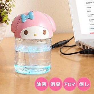 日本直送 美樂蒂汽車USB空氣清淨機芳香機