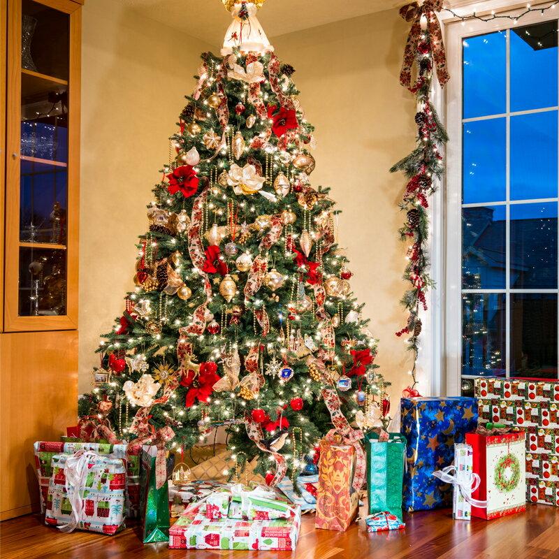 發光聖誕樹套餐家用聖誕節裝飾品加密1.5m/1.8/2.1/3/4米豪華套裝