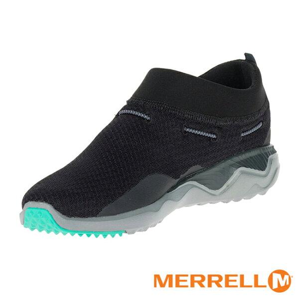 【MERRELL促銷7折│全店免運】MERRELL1SIX8MOC戶外鞋女鞋黑薄荷綠-ML03284