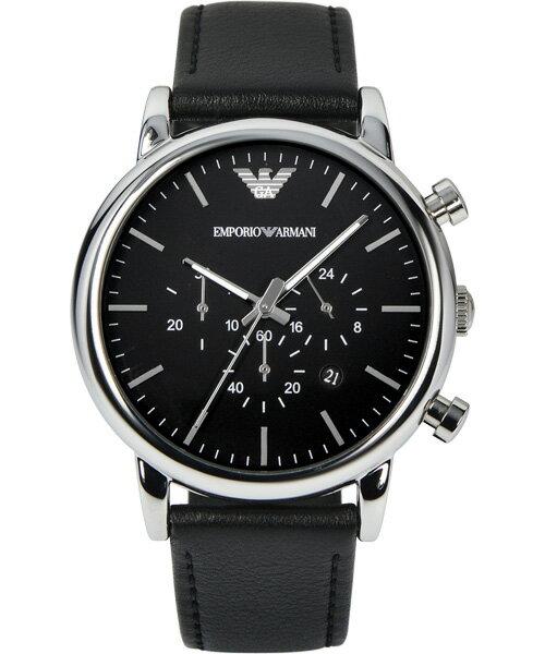 EMPORIO ARMANI/AR1828城市經典計時腕錶/黑面46mm