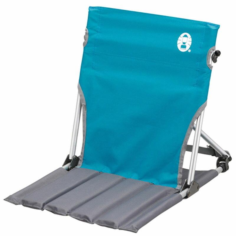 【鄉野情戶外專業】 Coleman |美國| 折疊椅.野餐椅.露營椅輕巧緊湊地板椅-天空藍 CM-7672JM000