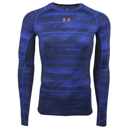 Under Armour Men's HeatGear Armour Printed Compression L/S Shirt 7d7ab9d104d03568414094b3d0b47225