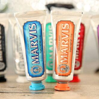 義大利 MARVIS薄荷牙膏 隨身款 25mL (經典/肉桂/生薑/海洋/茉莉/亮白/甘草)【N202198】