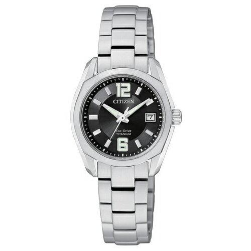 CITIZEN 星辰錶 EW2101-59E 光動能 超輕耐刮鈦腕錶