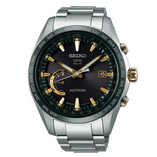 SEIKO ASTRON 衛星定位GPS太陽能腕錶/鈦金屬錶款/黑/8X22-0AG0K(SSE085J1)