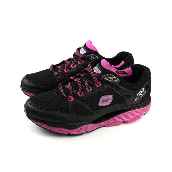 SKECHERSSRR系列慢跑鞋運動鞋女鞋黑色桃紅88888037BKHPno817