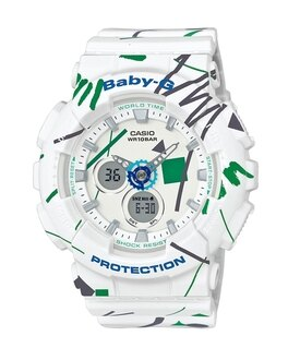 CASIO BABY-G BA-120SC-7A童趣塗鴉雙顯流行腕錶/43.4mm