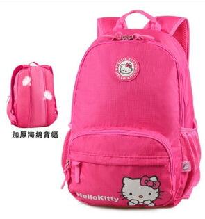 正版HelloKitty凱蒂貓兒童書包小學生後背包適合3-6年級輕量後背包