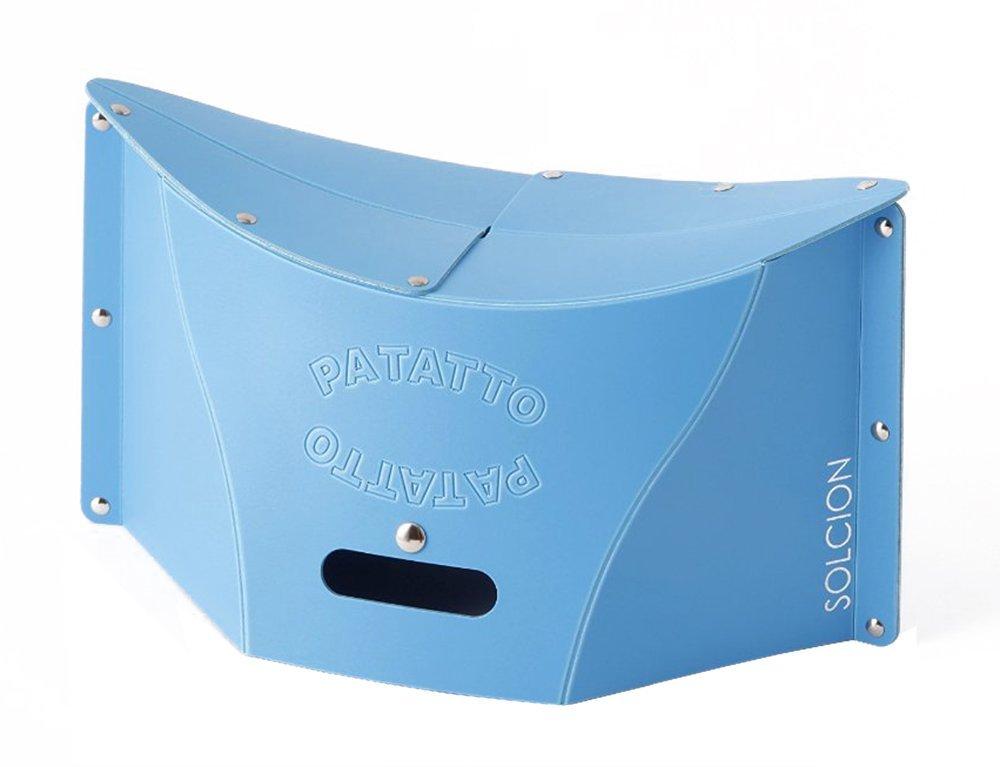 X射線【C640909】PATATTO 超輕量可折疊攜帶式椅子M-藍,露營椅/收納椅/造型椅/折疊椅/凳子/矮凳/板凳/椅子