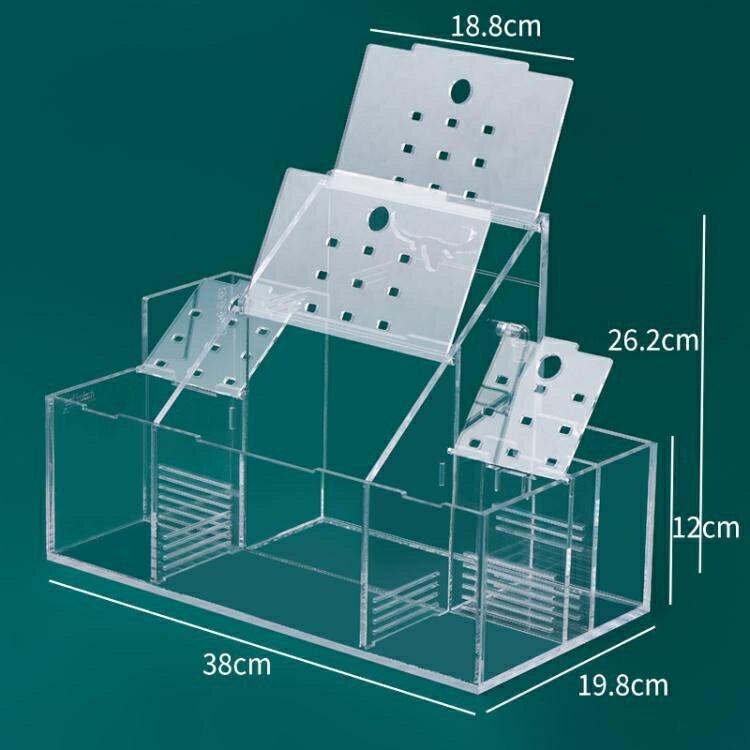生態斗魚缸孔雀魚繁殖孵化專用隔離盒循環水過濾創意桌面斗魚排缸 娜娜小屋