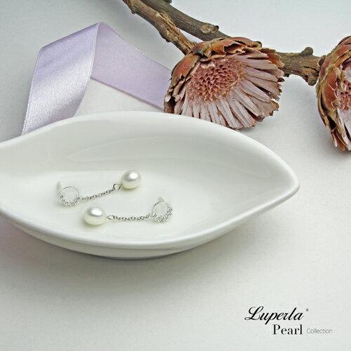 大東山珠寶 璀璨圓舞曲 天然淡水珍珠純耳環 2