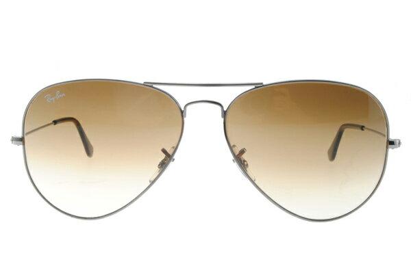 Ray Ban雷朋 銀邊漸層棕鏡 太陽眼鏡 RB3025 3