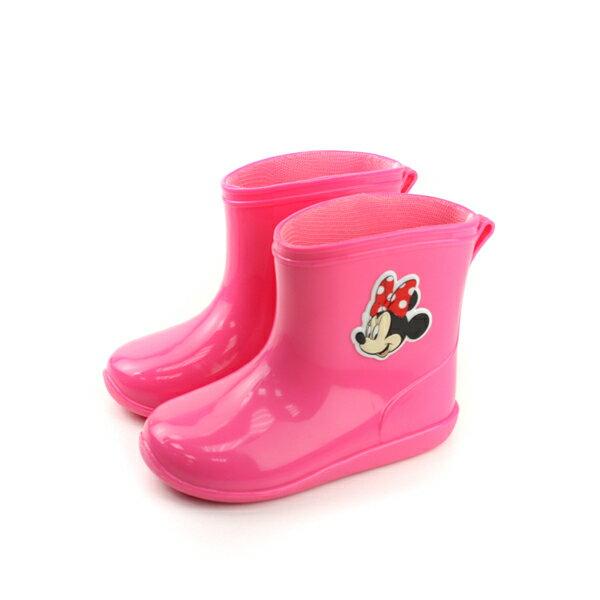 HUMAN PEACE:Disney迪士尼米妮雨鞋雨靴桃紅色中童D17008no085