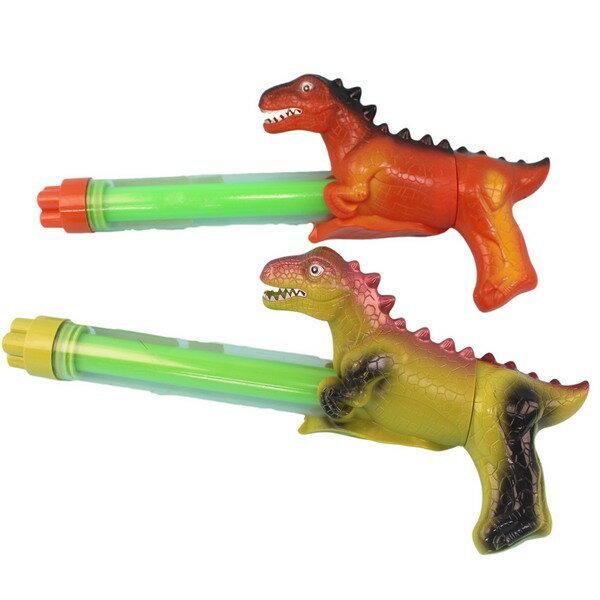 恐龍造型水槍 四噴頭拉把水炮 / 一盒12支入(促120) YT639 透明管抽拉式水槍 手拉水槍棒-CF134493 0
