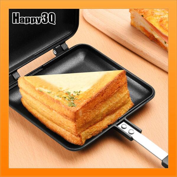 熱烤三明治模早餐食品焦脆麵包自製早餐DIY瓦斯爐烤土司機免電力【AAA4525】